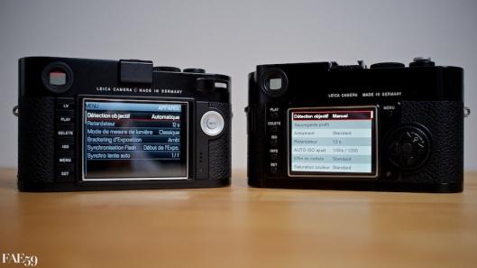 Leica M et M9 - Les menus