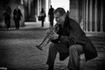 Trompettiste des rues