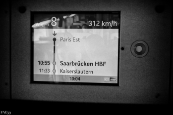 En route pour l'Allemagne à 312 km/h