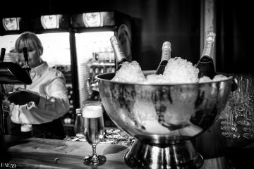 Champagne pour le repas du centenaire
