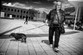 Promenade du chien au Leitz-Park