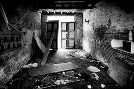Intérieur de maison abandonnée
