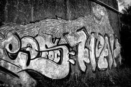 Facade taguée